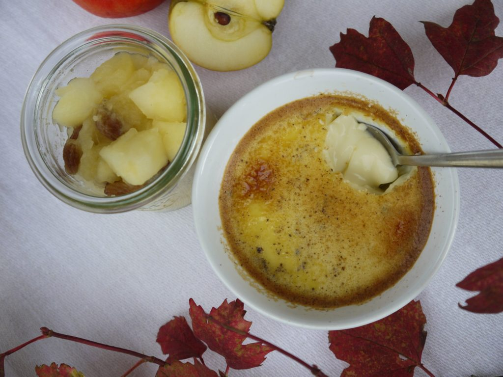Bowl with Baked custard